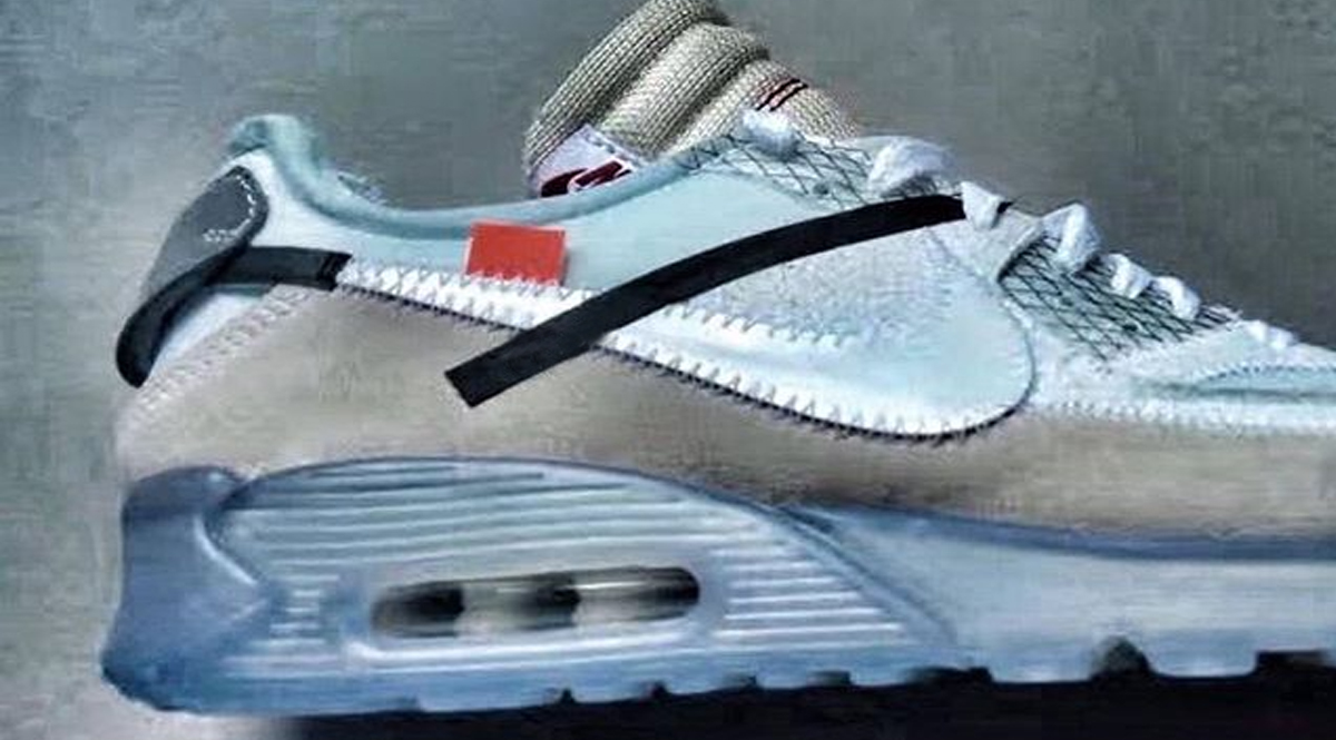 off white nike air max 90 ice